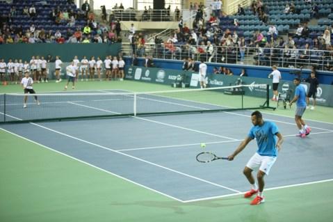 Rafael Nadal v Jo-Wilfried Tsonga Kazakhstan exhibition (17)