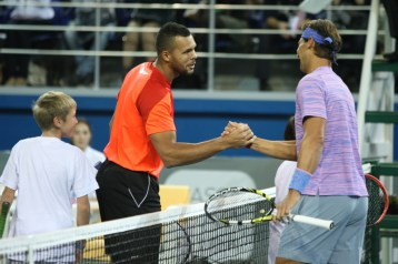 Rafael Nadal v Jo-Wilfried Tsonga Kazakhstan exhibition (3)