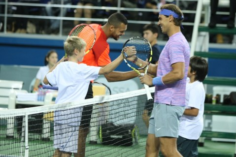 Rafael Nadal v Jo-Wilfried Tsonga Kazakhstan exhibition (4)