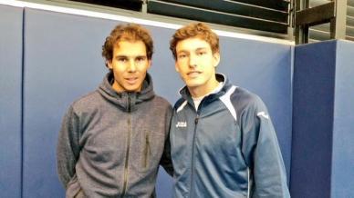 Rafael Nadal and Pablo Carreno (Photo: @pablocarreno91)