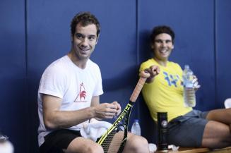Rafael Nadal and Richard Gasquet (via lequipe.com)