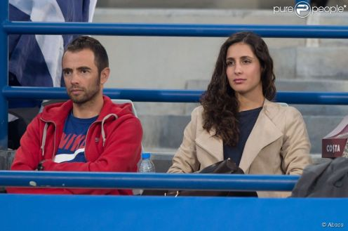 Rafael Maymo and Maria Francisca Perello cheer on Rafael Nadal