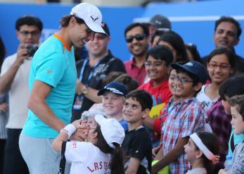 Rafael Nadal at Abu Dhabi exibition 2015