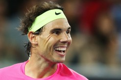 MELBOURNE, AUSTRALIA - JANUARY 14: Rafael Nadal of Spain reacts in his match against Mark Philippoussis of Australia during Rafa's Summer Set at Melbourne Park on January 14, 2015 in Melbourne, Australia. (Photo by Michael Dodge/Getty Images)