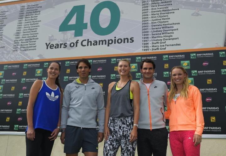 Ivanovic Nadal Sharapova Federer Wozniacki Indian Wells