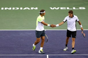 Nadal Carreno Busta Indian Wells doubles 2015