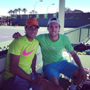 Rafael Nadal and Joao Sousa (Photo: @joaosousa30)