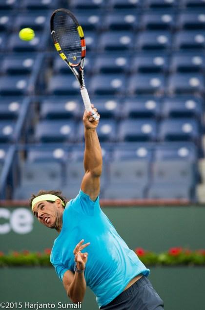 Rafael Nadal entrenamineto Indian Wells 2015