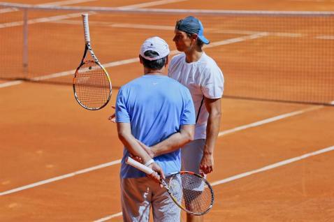 Rafael Nadal first pratice in Madrid 2015 (4)