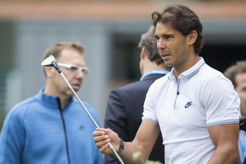 Rafael Nadal visited golf club in Barcelona (2)