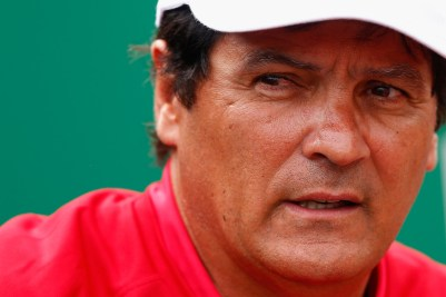Toni Nadal watching Rafa in Monte Carlo 2015