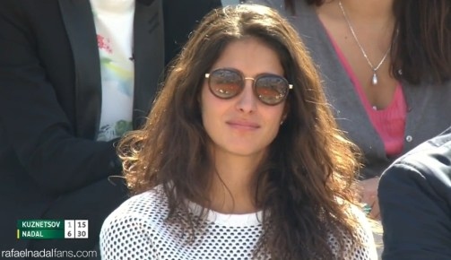 Rafael Nadal girlfriend Maria Francisca Perello at Roland Garros R3 2015