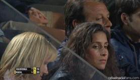 Rafael Nadal girlfriend Maria Francisca Perrello at the Rome Masters QF 2015