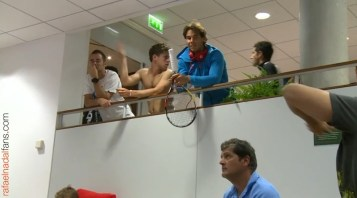 Rafael Nadal in the locker room before the match French Open 2015