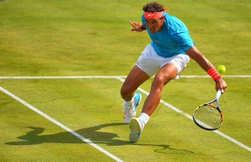 Rafael Nadal of Spain during his men's singles first round match against Alexandr Dolgopolov of Ukraine during day two of the Aegon Championships at Queen's Club on June 16, 2015 in London, England. (June 15, 2015 - Source: Justin Setterfield/Getty Images Europe)