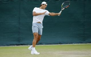 Tennis - Wimbledon Preview - All England Lawn Tennis & Croquet Club, Wimbledon, England - 28/6/15 Spain's Rafael Nadal during practice Action Images via Reuters / Andrew Couldridge Livepic EDITORIAL USE ONLY.