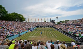 STUTTGART, GERMANY - JUNE 12: General view of the centre court on day seven of Mercedes Cup 2015 on June 12, 2015 in Stuttgart, Germany. (Photo by Daniel Kopatsch/Bongarts/Getty Images)
