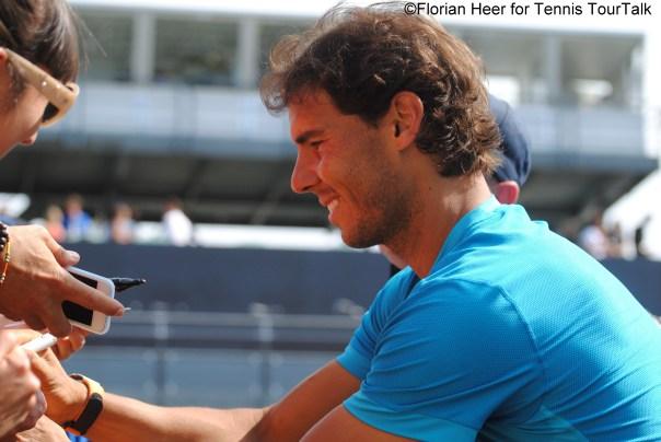 Rafael Nadal signs autographs in Stuttgart 2015