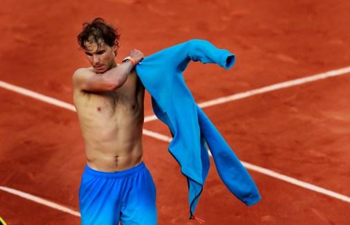 Tennis - French Open - Roland Garros, Paris, France - 1/6/15 Men's Singles - Spain's Rafael Nadal during his fourth round match Action Images via Reuters / Jason Cairnduff Livepic