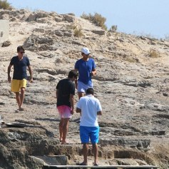 Rafael Nadal enjoys time off from tennis with friends 2015