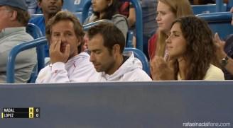 Rafael Nadal girfriend Maria Francisca Perello in Cincinnati R3