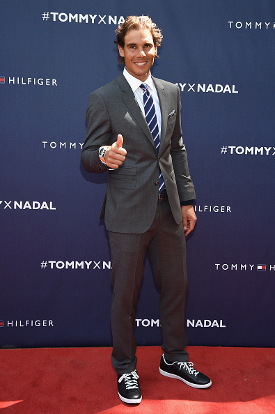 NEW YORK, NY - AUGUST 25: Rafael Nadal attends the Tommy Hilfiger and Rafael Nadal Global Brand Ambassadorship Launch at Bryant Park on August 25, 2015 in New York City. (Photo by Mike Coppola/Getty Images for Tommy Hilfiger)