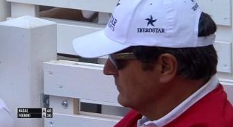 Uncle Toni watching Rafael Nadal in the Hamburg final 2015