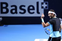 BASEL, SWITZERLAND - OCTOBER 30: Rafael Nadal of Spain protests during the fifth day of the Swiss Indoors ATP 500 tennis tournament against Marin Cilic of Croatia at St Jakobshalle on October 30, 2015 in Basel, Switzerland. (Photo by Harold Cunningham/Getty Images)