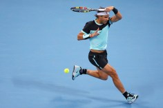 Rafael Nadal of Spain plays a forehand in his match against Vasek Pospisil of Canada on day 5 of the 2015 China Open at the National Tennis Centre on October 7, 2015 in Beijing, China. (Oct. 7, 2015 - Source: Chris Hyde/Getty Images AsiaPac)