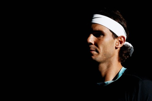Rafael Nadal of Spain walks out to play his match against Lukas Rosol of Czech Republic during Day 3 of the BNP Paribas Masters held at AccorHotels Arena on November 4, 2015 in Paris, France. (Nov. 3, 2015 - Source: Dean Mouhtaropoulos/Getty Images Europe)