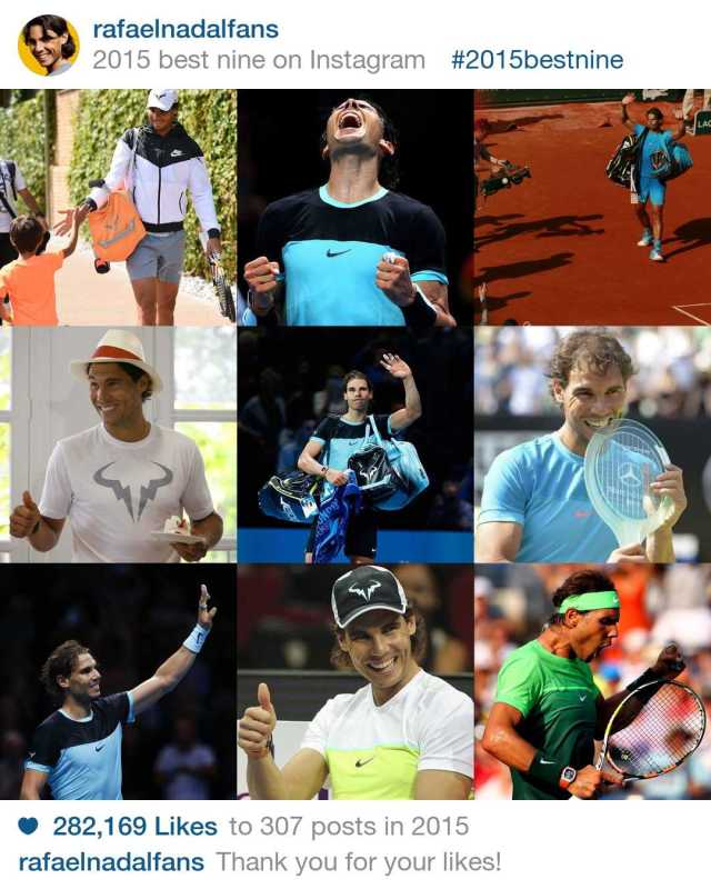 Rafael Nadal Fans Best Nine Instagram Photos