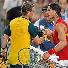 Rafael Nadal says goodbye to Lleyton Hewitt