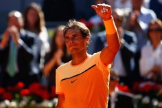 Rafael Nadal during day four of the Mutua Madrid Open tennis tournament at the Caja Magica on May 03, 2016 in Madrid, Spain.