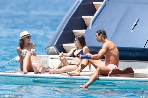 Rafael Nadal and his girlfriend Maria Francisca Perello on yacht in Ibiza (5)