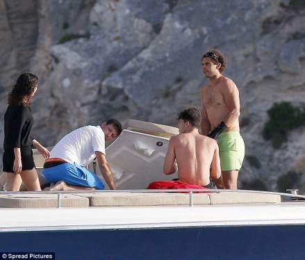 Rafael Nadal continues recovery from wrist injury on holiday with girlfriend Maria Francisca Perello (17)