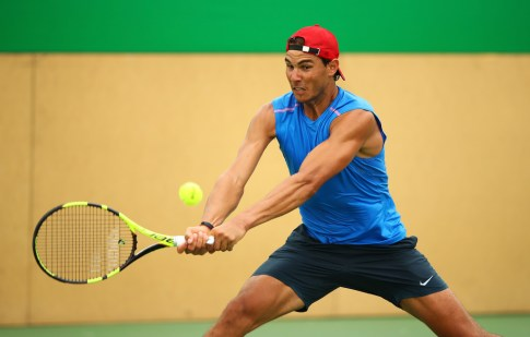 Rafael Nadal of Spain during a practice session ahead of the Rio 2016 Olympic Games at the Olympic Tennis Centre on August 3, 2016 in Rio de Janeiro, Brazil. (Aug. 2, 2016 - Source: Clive Brunskill/Getty Images South America)