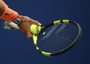 Rafael Nadal, of Spain, prepares to serve toLucas Pouille, of France, during the fourth round of the U.S. Open tennis tournament, Sunday, Sept. 4, 2016, in New York. (AP Photo/Alex Brandon)
