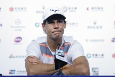 BEIJING, CHINA - OCTOBER 02: Rafael Nadal of Spain attends the press conference on day two of the 2016 China Open at the China National Tennis Centre on October 2, 2016 in Beijing, China. (Photo by Lintao Zhang/Getty Images)