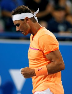 Tennis - Mubadala World Tennis Championship - Rafael Nadal of Spain v Milos Raonic of Canada - Abu Dhabi, UAE - 30/12/16 - Rafael Nadal of Spain. REUTERS/Ahmed Jadallah