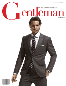 Rafael Nadal covers the latest issue of Gentleman Ecuador