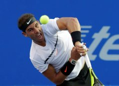 Tennis - Mexican Open - Men's Singles - Quarter-Final - Acapulco, Mexico- 02/03/17. Spain's Rafael Nadal in action against Yoshihito Nishioka of Japan. REUTERS/Henry Romero