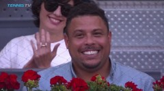 Ronaldo watching Madrid Open final between Rafael Nadal and Dominic Thiem 2017