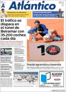 Newspaper front pages cover Rafael Nadal victory at Roland Garros 2017 front page (10)