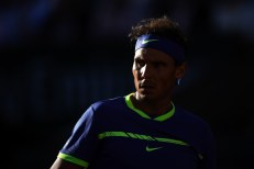 Spain's Rafael Nadal looks on as he plays against Austria's Dominic Thiem during their semifinal tennis match at the Roland Garros 2017 French Open on June 9, 2017 in Paris. / AFP PHOTO / GABRIEL BOUYS (June 8, 2017 - Source: AFP)