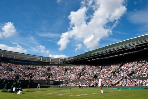 Rafael Nadal (ESP) v. John MIllman (AUS) on No.1 Court in the Gentlemen's Singles First Round. The Championships 2017 at The All England Lawn Tennis Club, Wimbledon. Day 1 Monday 3rd July 2017. Credit: AELTC/Florian Eisele.