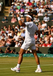 Rafael Nadal vs Gilles Muller 2017 Wimbledon fourth round photo (17)