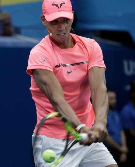 PFX13. New York (United States), 26/08/2017.- Rafael Nadal of Spain participates during Arthur Ashe Kids Day at the USTA Billie Jean King National Tennis Center in Flushing Meadows in New York, New York, USA, 26 August 2017. (España, Abierto, Tenis, Nueva York, Estados Unidos) EFE/EPA/PETER FOLEY