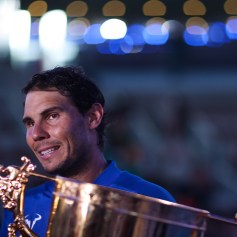 Rafael Nadal of Spain looks on after winning the Men's Singles final against Nick Kyrgios of Australia on day nine of the 2017 China Open at the China National Tennis Centre on October 8, 2017 in Beijing, China. (Oct. 7, 2017 - Source: Lintao Zhang/Getty Images AsiaPac)