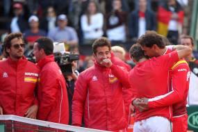 Rafael Nadal celebrates as David Ferrer sends Spain to Davis Cup semifinals 2018 (3)