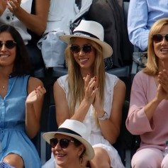 Rafael Nadal girlfriend Maria Francisca Perello sister Maria Isabel and mother Ana Maria Parera in Rome 2018 Italian Open final